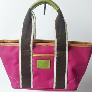 Coach  Pink Mini Hamptons Nylon Bag